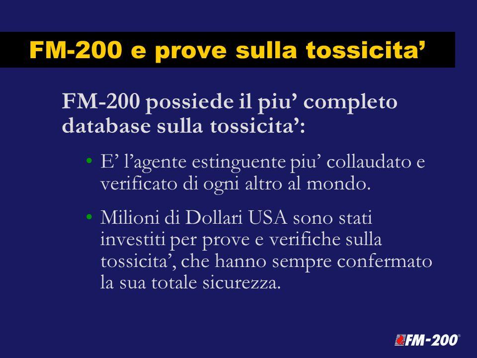 FM-200 e prove sulla tossicita'