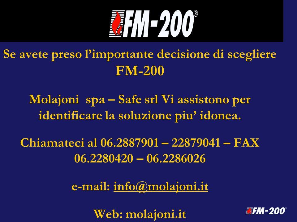Se avete preso l'importante decisione di scegliere FM-200