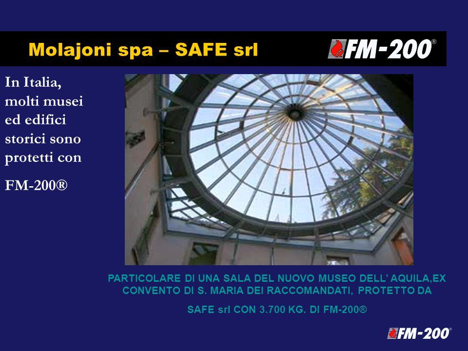 Molajoni spa – SAFE srl In Italia, molti musei ed edifici storici sono protetti con. FM-200®