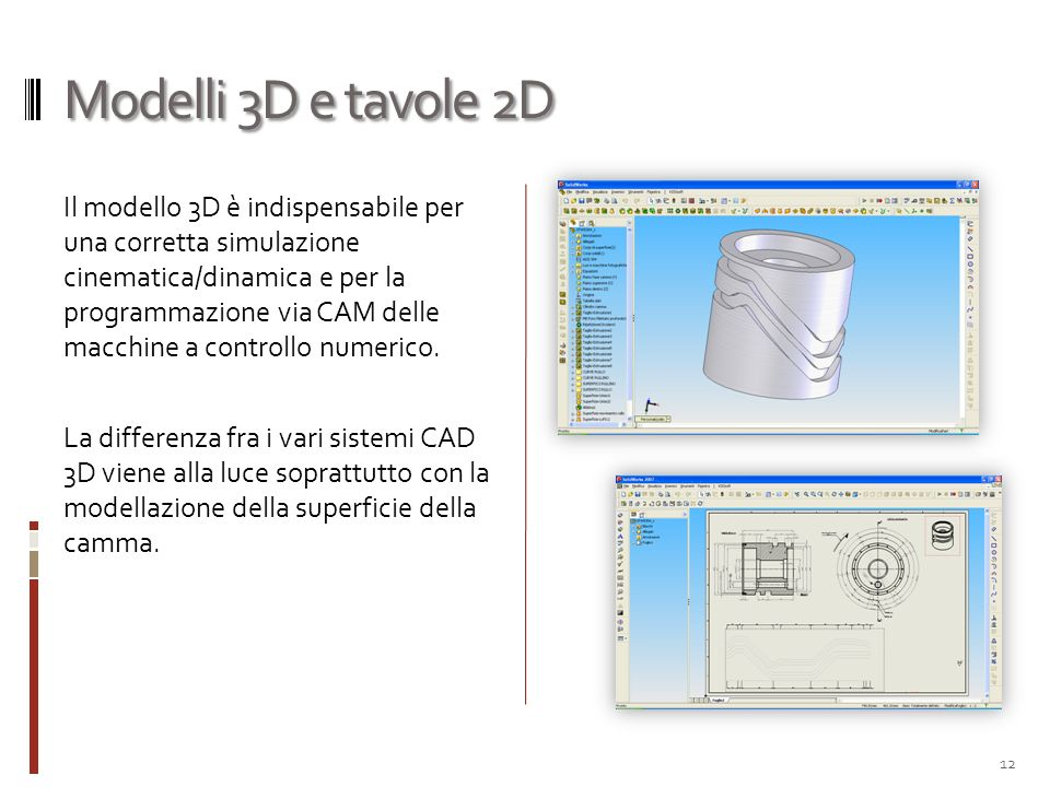 Modelli 3D e tavole 2D