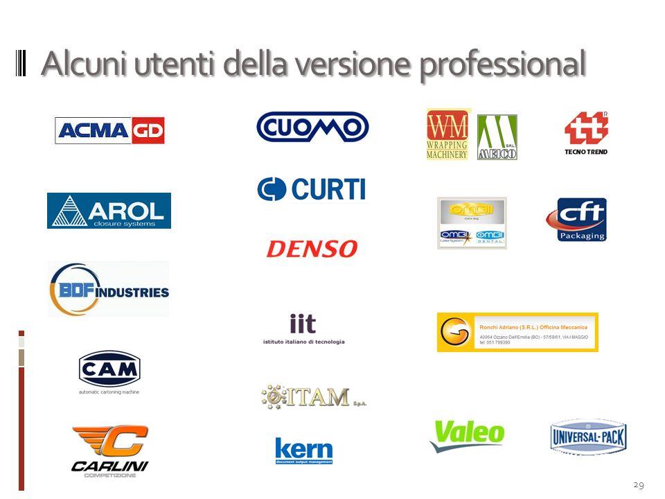 Alcuni utenti della versione professional