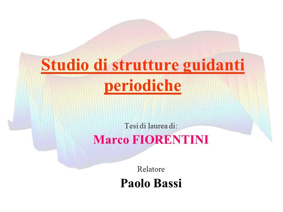 Studio di strutture guidanti periodiche