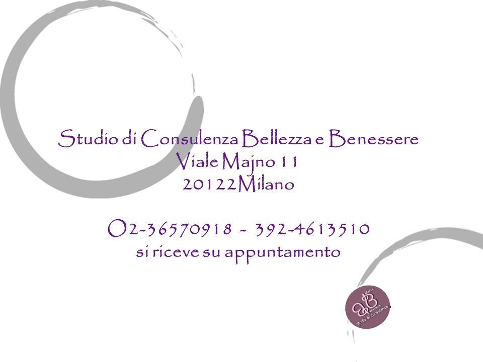 Studio di Consulenza Bellezza e Benessere si riceve su appuntamento