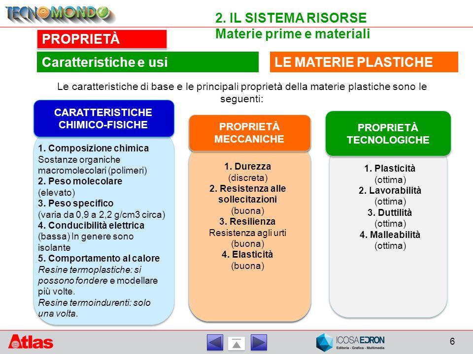 CARATTERISTICHE CHIMICO-FISICHE PROPRIETÀ TECNOLOGICHE