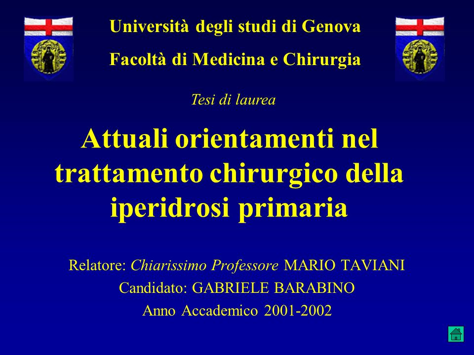Università degli studi di Genova Facoltà di Medicina e Chirurgia