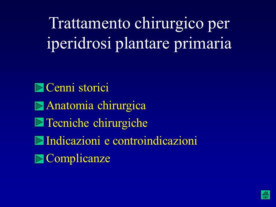 Trattamento chirurgico per iperidrosi plantare primaria