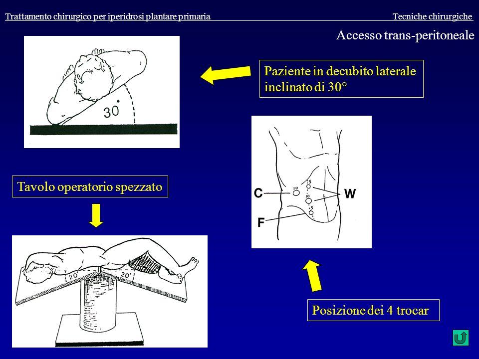 Accesso trans-peritoneale