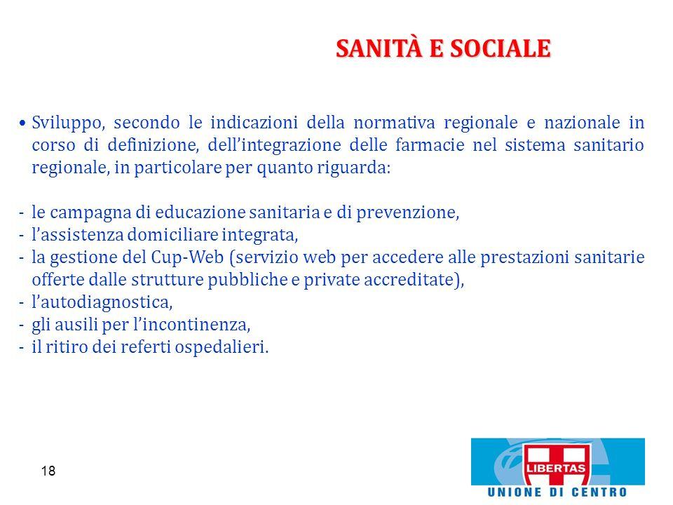 SANITÀ E SOCIALE