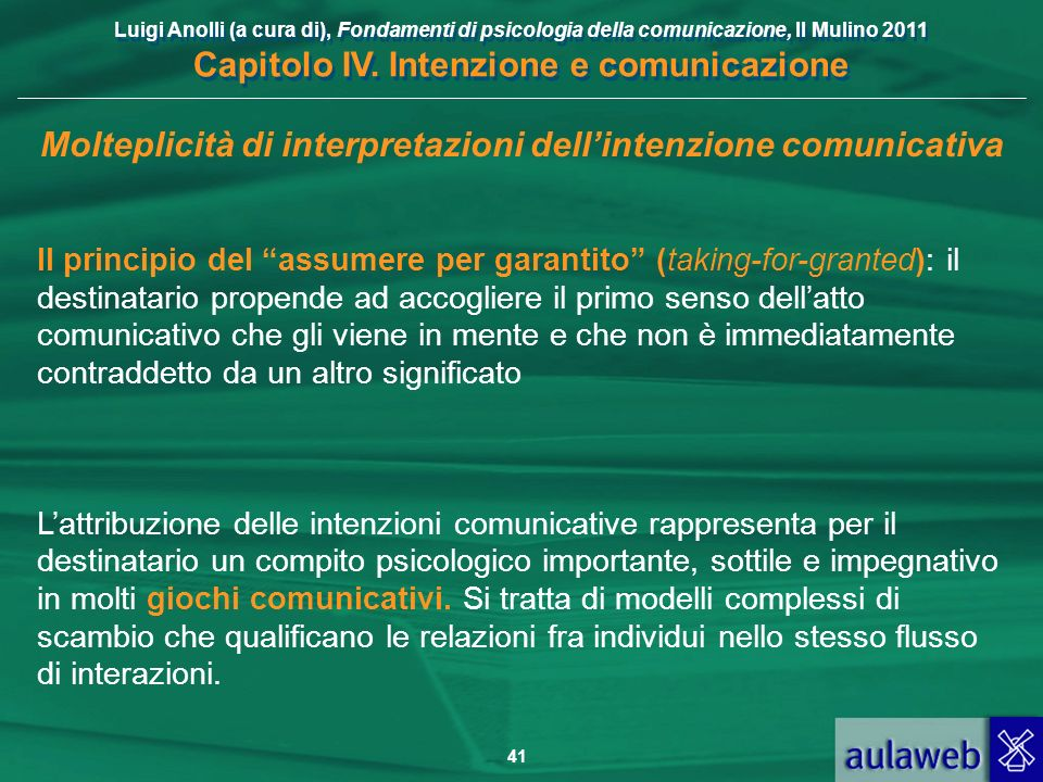 Molteplicità di interpretazioni dell'intenzione comunicativa