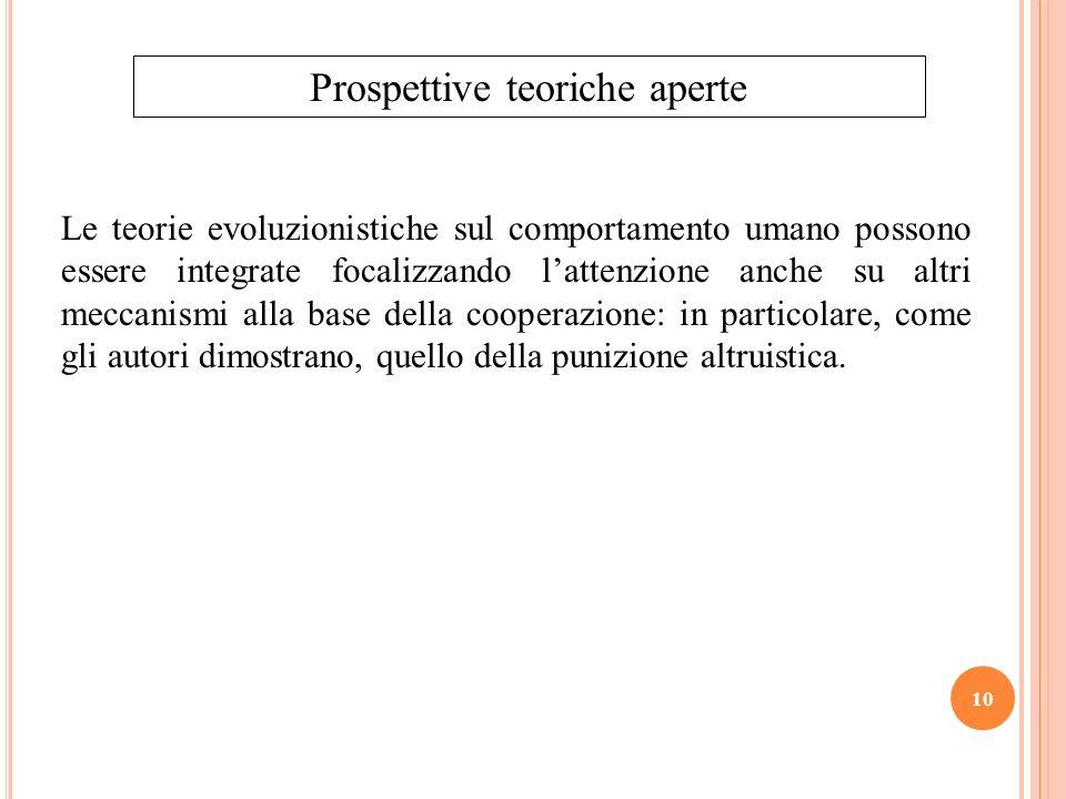 Prospettive teoriche aperte