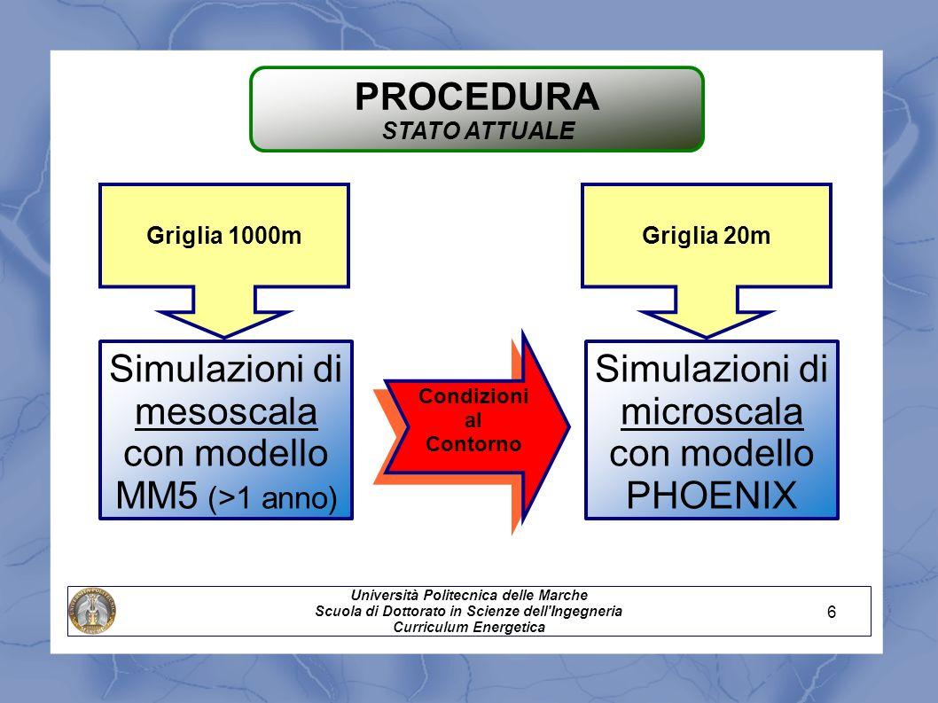 Simulazioni di mesoscala con modello MM5 (>1 anno)