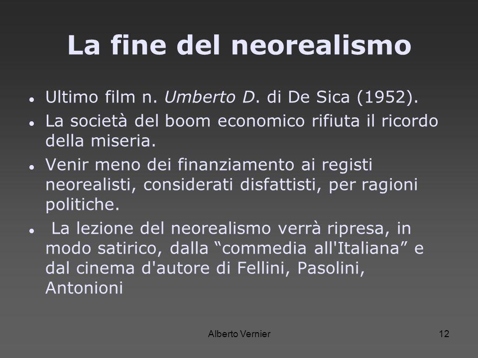 La fine del neorealismo
