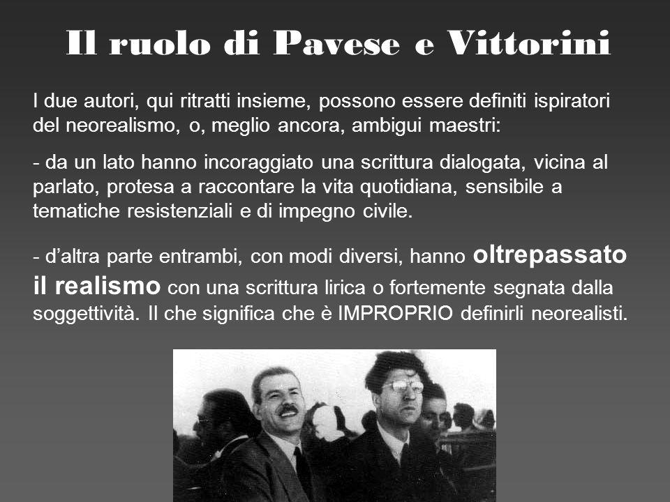 Il ruolo di Pavese e Vittorini