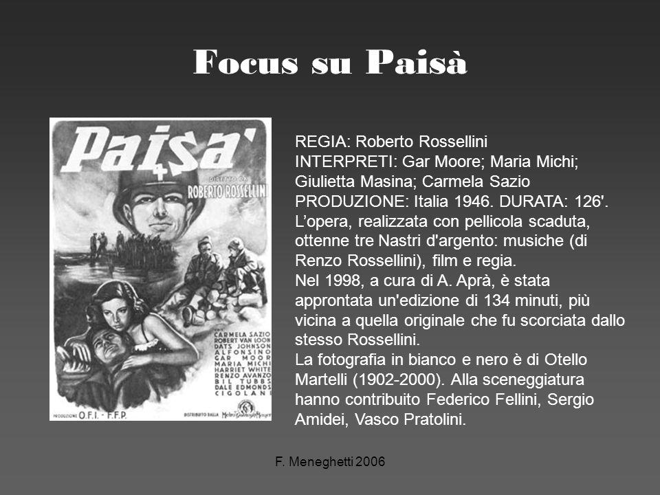 Focus su Paisà REGIA: Roberto Rossellini