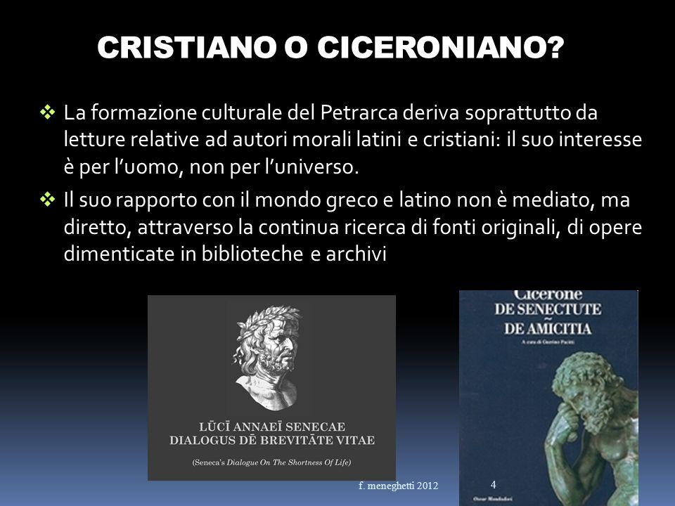 CRISTIANO O CICERONIANO