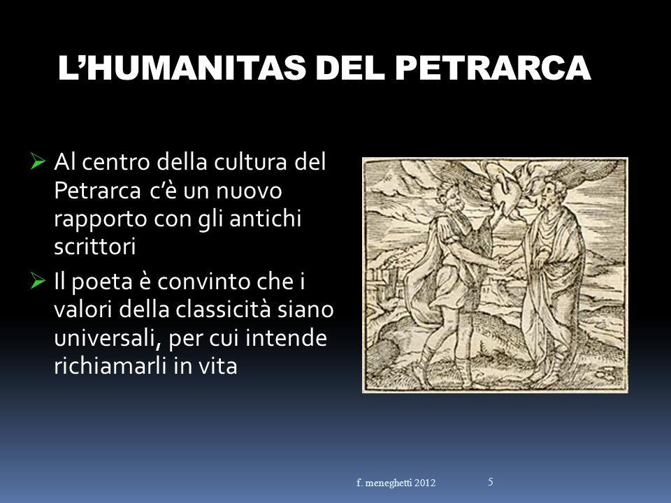 L'HUMANITAS DEL PETRARCA