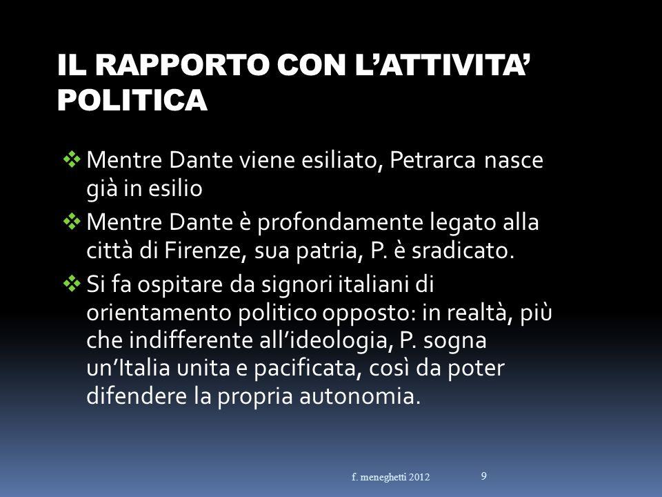 IL RAPPORTO CON L'ATTIVITA' POLITICA