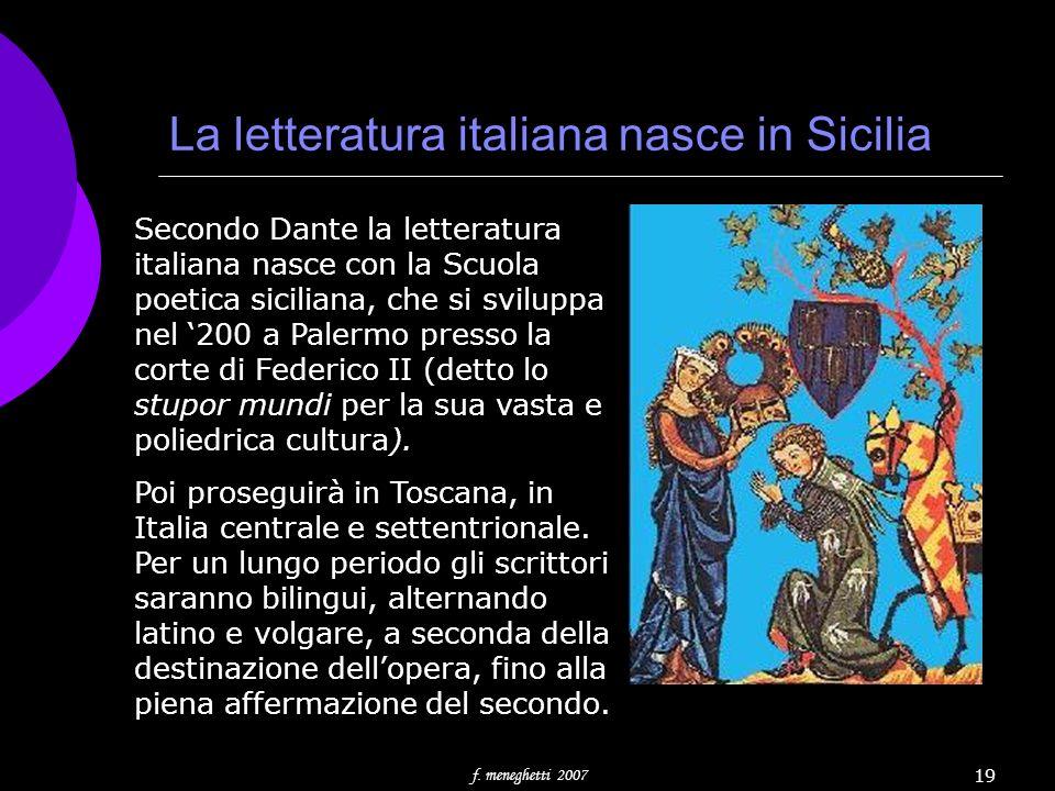 La letteratura italiana nasce in Sicilia