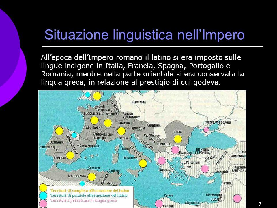 Situazione linguistica nell'Impero