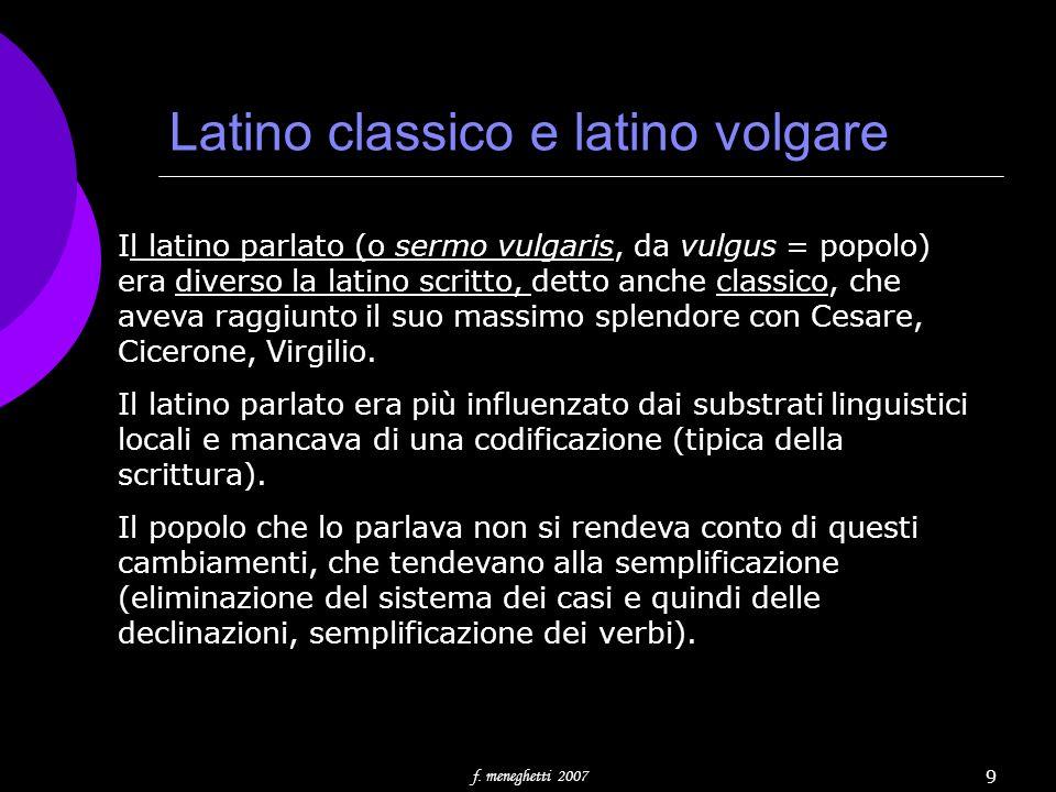 Latino classico e latino volgare