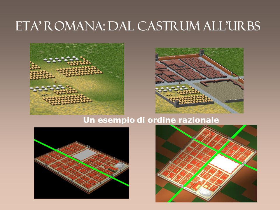 Eta' romana: dal castrum all'urbs