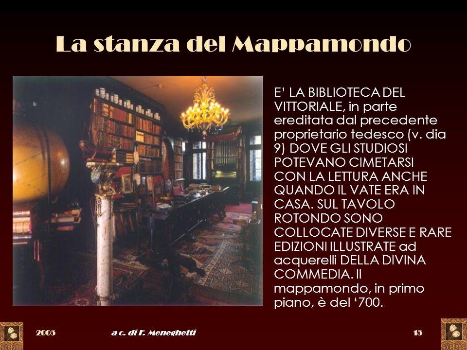La stanza del Mappamondo