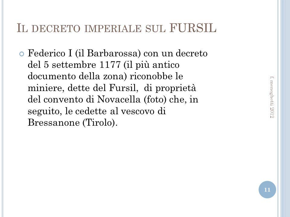 Il decreto imperiale sul FURSIL