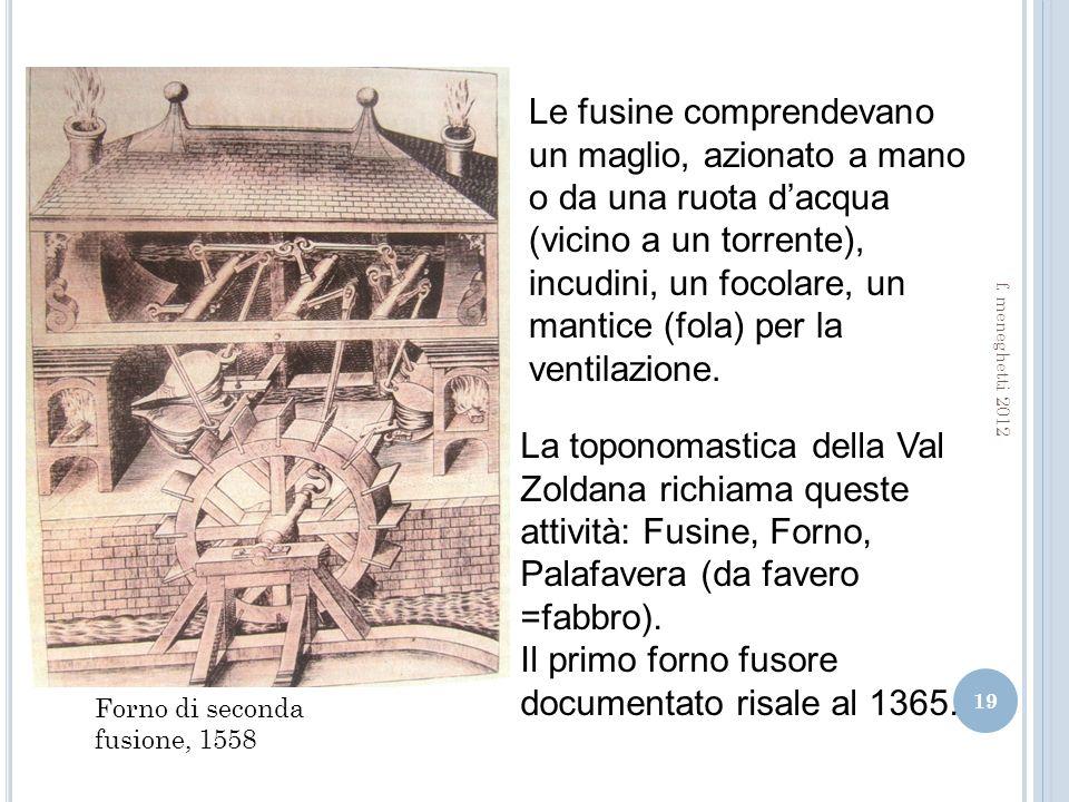 Il primo forno fusore documentato risale al 1365.