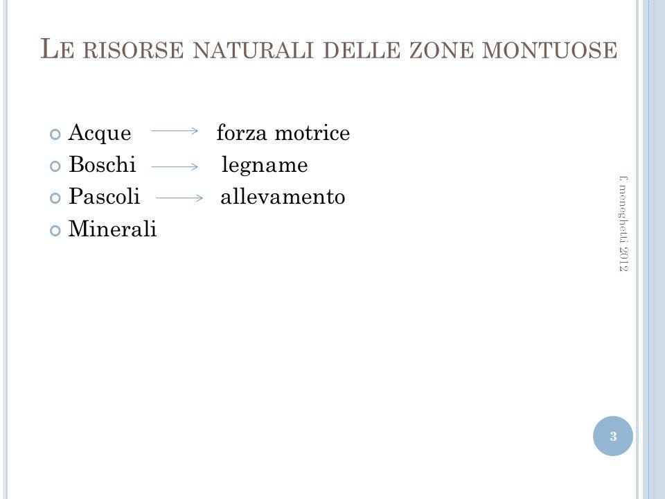 Le risorse naturali delle zone montuose