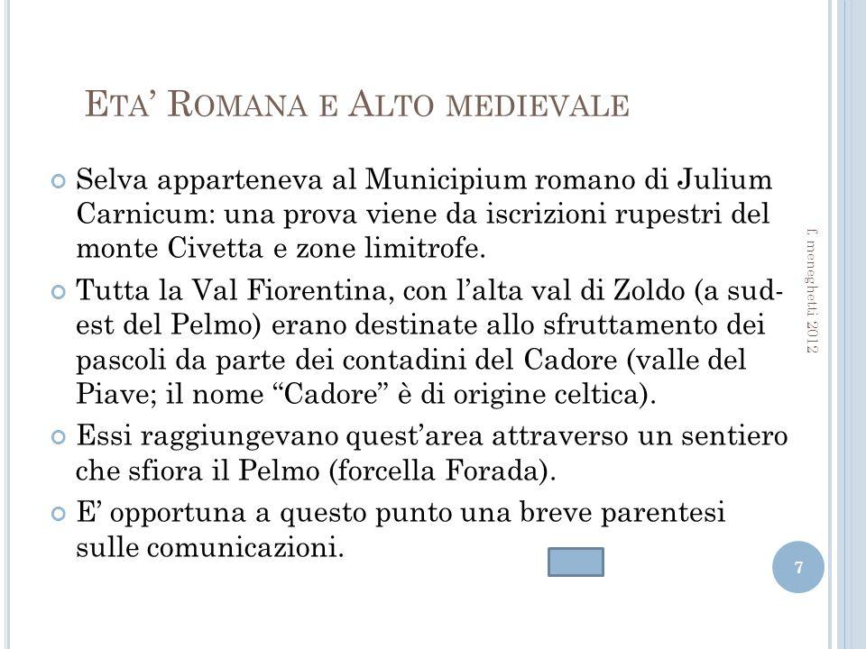 Eta' Romana e Alto medievale