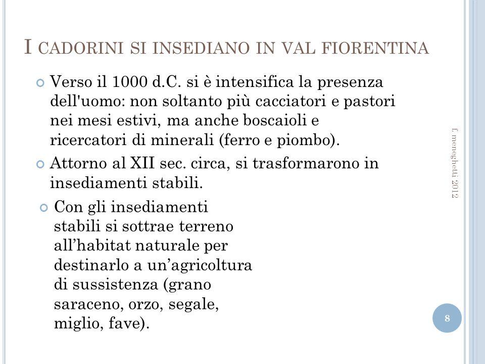 I cadorini si insediano in val fiorentina