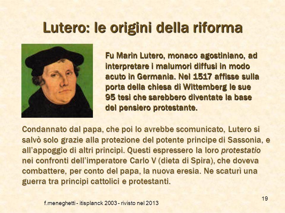 Lutero: le origini della riforma