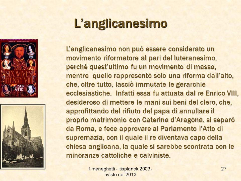 f.meneghetti - itisplanck 2003 - rivisto nel 2013