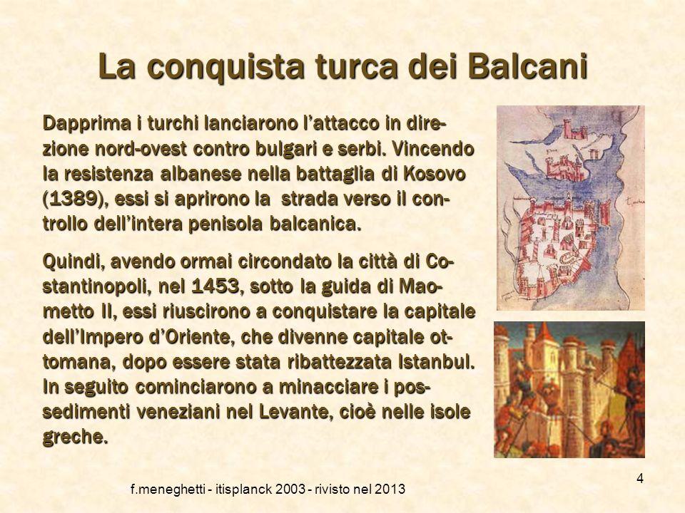 La conquista turca dei Balcani