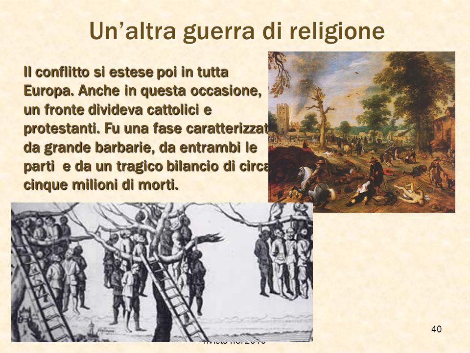 Un'altra guerra di religione