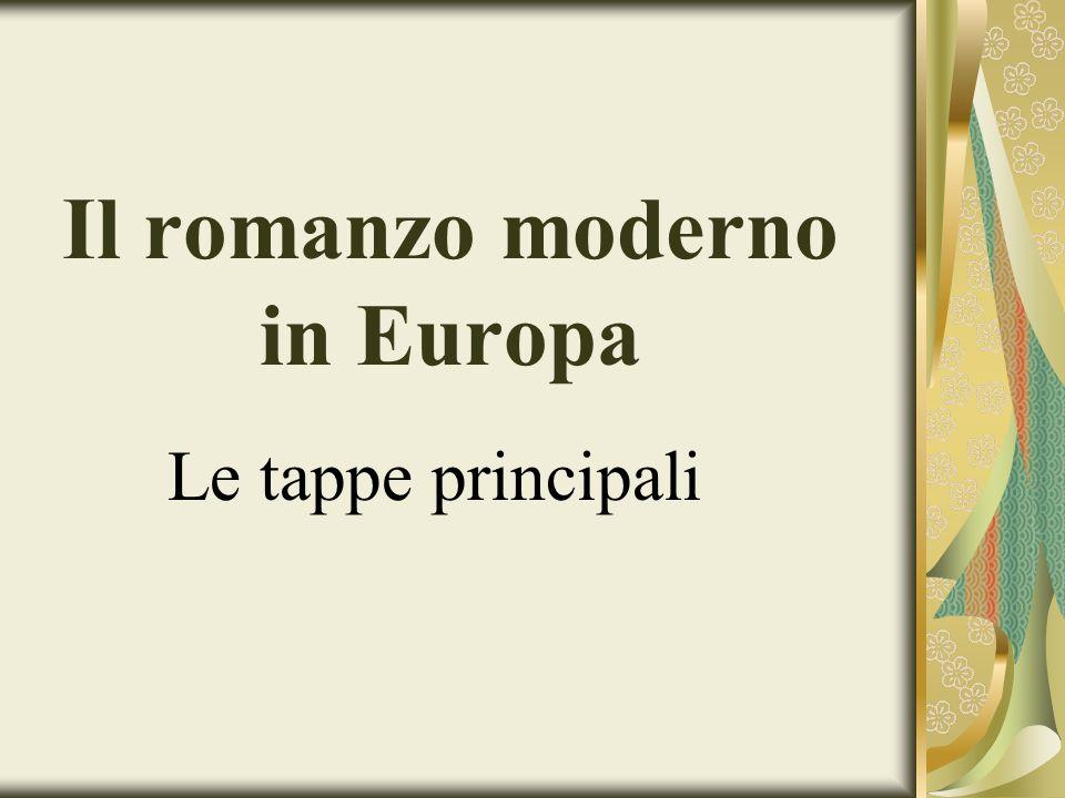 Il romanzo moderno in Europa