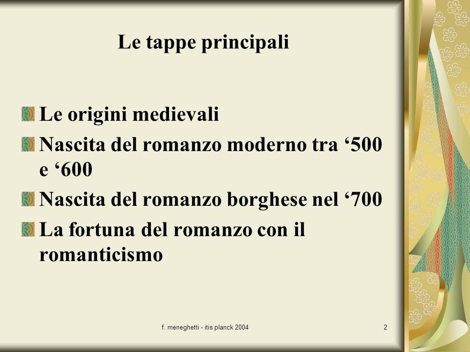 f. meneghetti - itis planck 2004