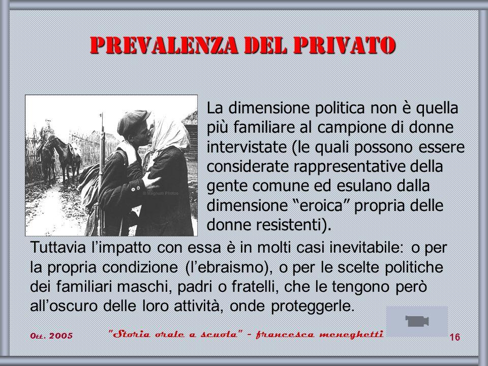 Prevalenza del privato