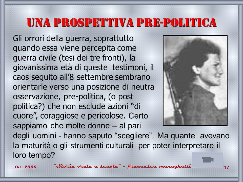 Una prospettiva pre-politica