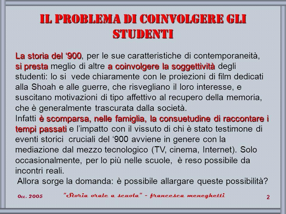 Il problema di coinvolgere gli studenti
