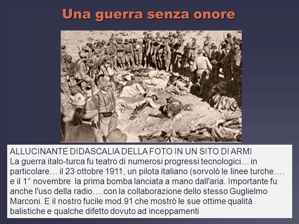 Una guerra senza onore ALLUCINANTE DIDASCALIA DELLA FOTO IN UN SITO DI ARMI.