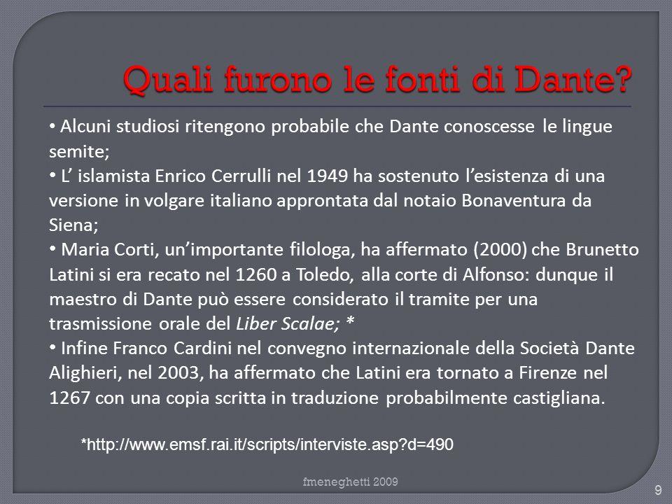 Quali furono le fonti di Dante