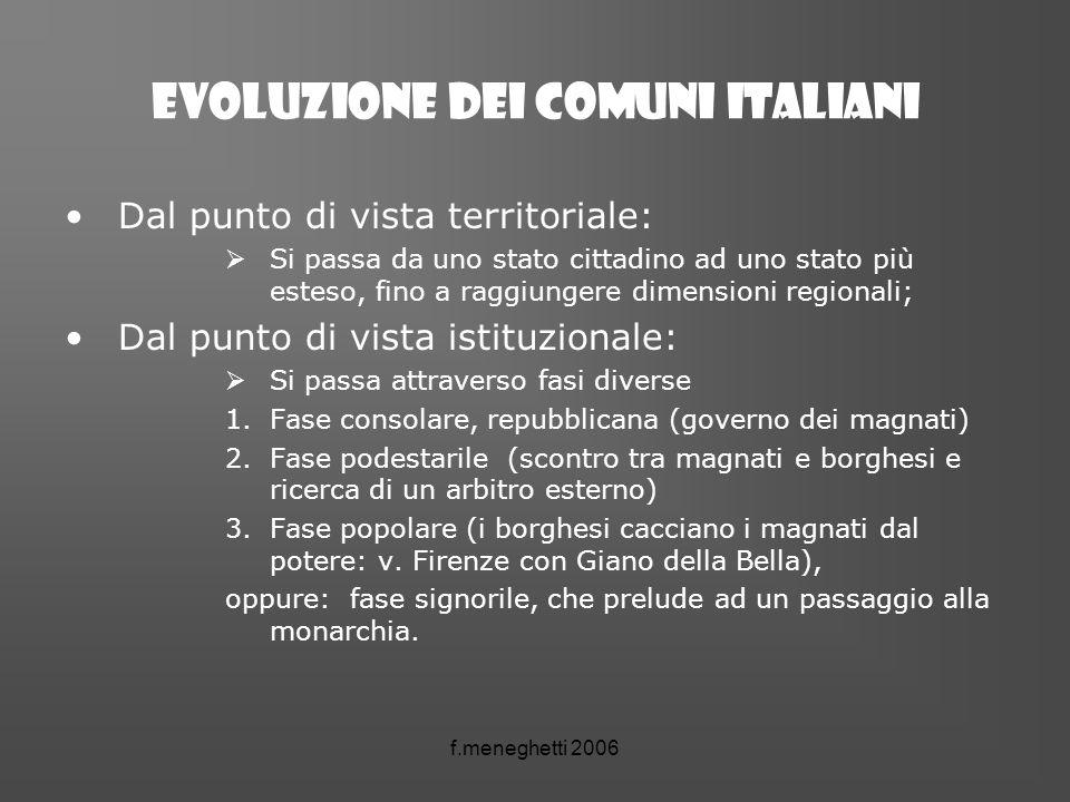 Evoluzione dei comuni italiani