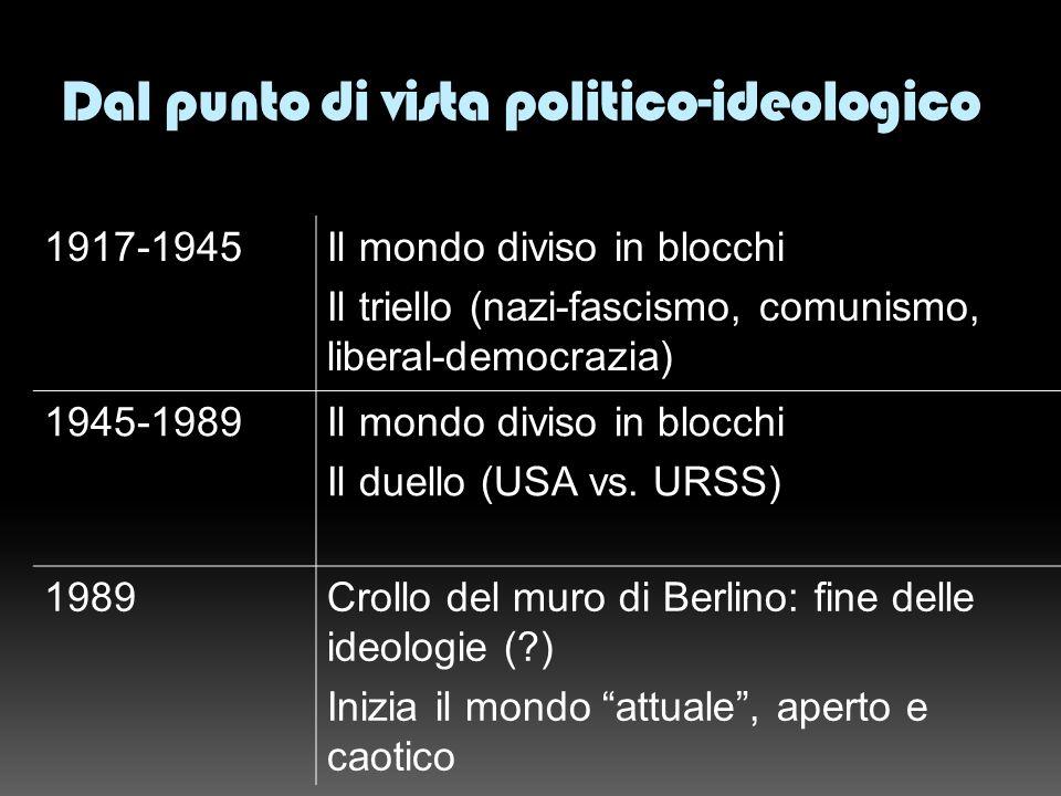 Dal punto di vista politico-ideologico