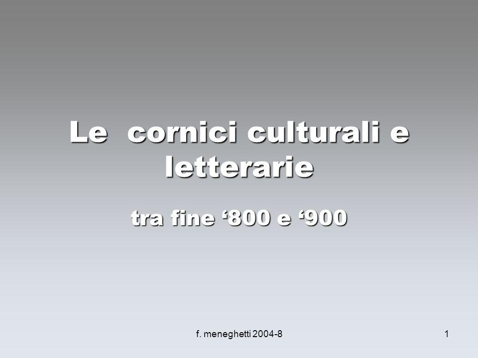 Le cornici culturali e letterarie