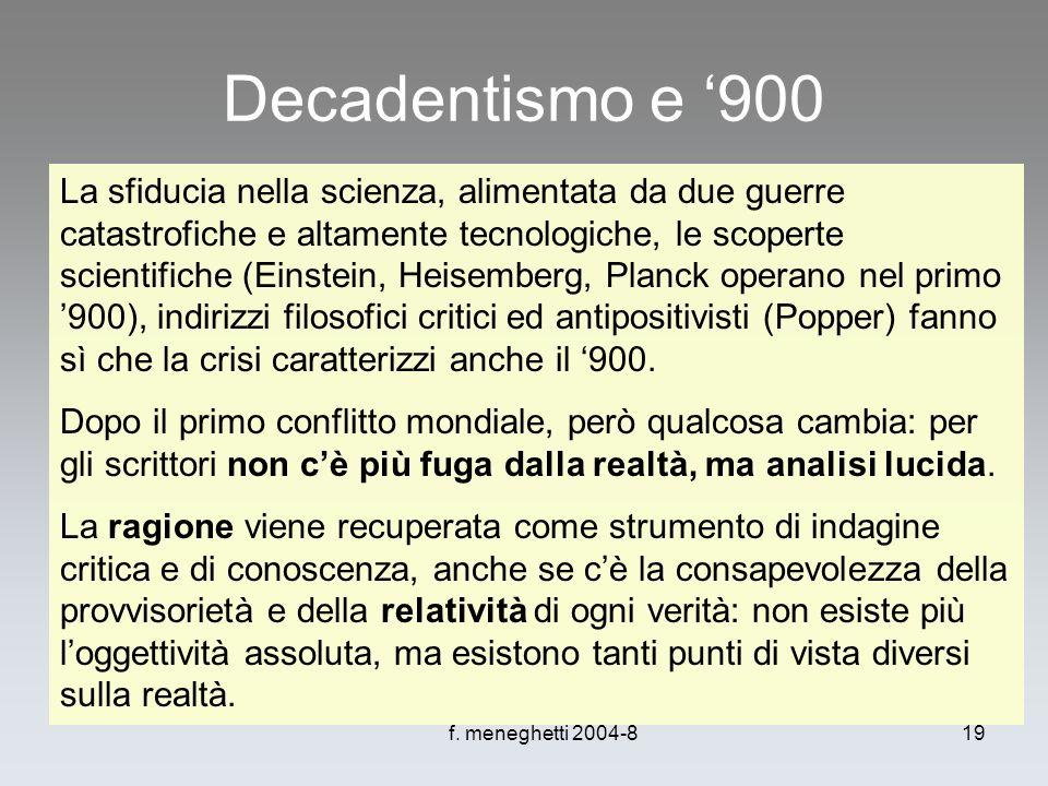 Decadentismo e '900