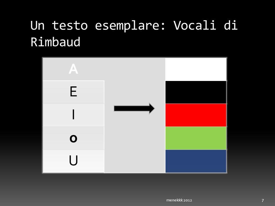 Un testo esemplare: Vocali di Rimbaud