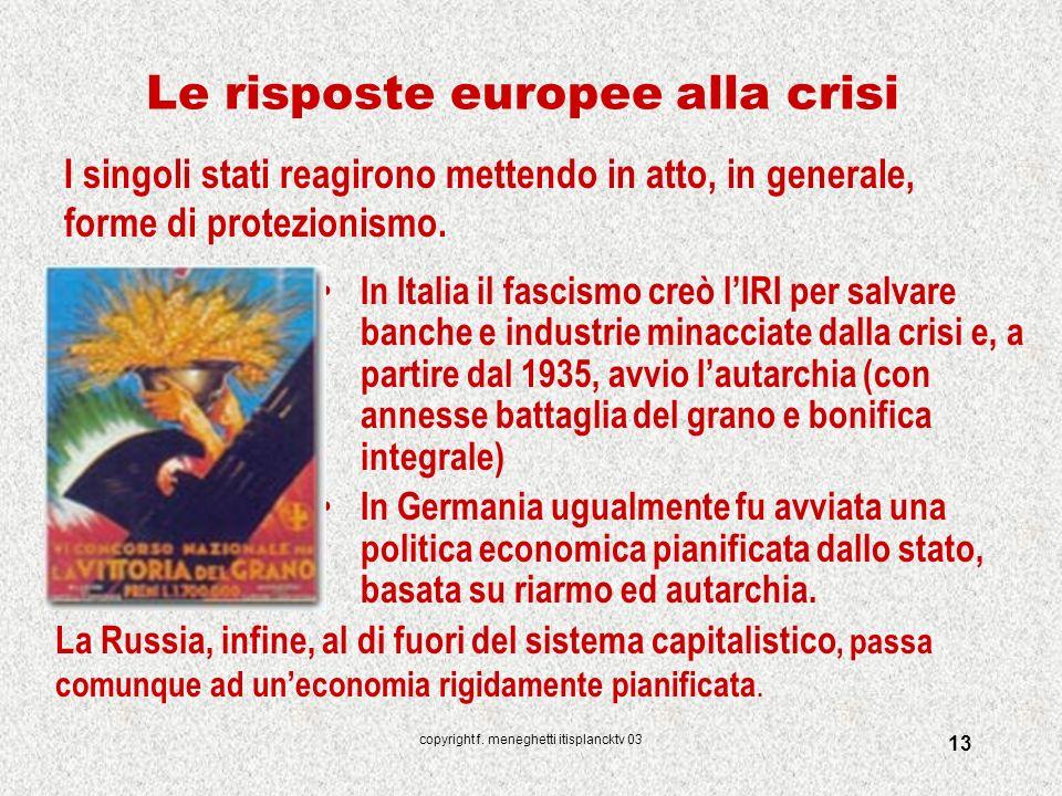 Le risposte europee alla crisi