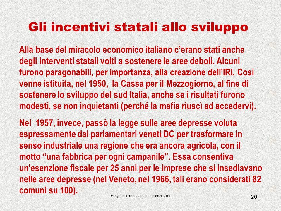 Gli incentivi statali allo sviluppo