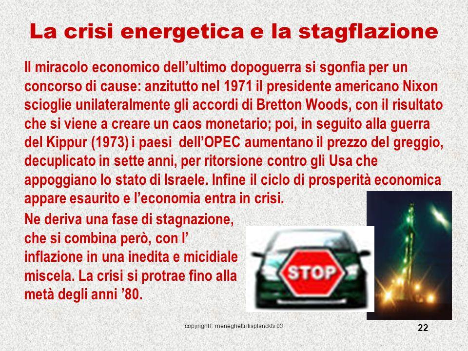 La crisi energetica e la stagflazione